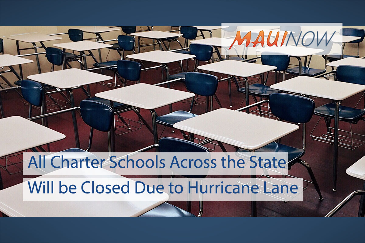 All Charter Schools Across the State Will be Closed Due to Hurricane Lane