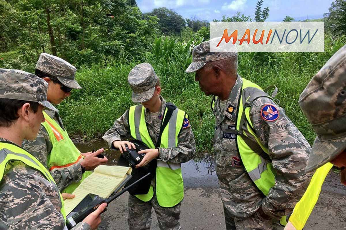 Civil Air Patrol Cadets Gather Post-Hurricane Data on Maui