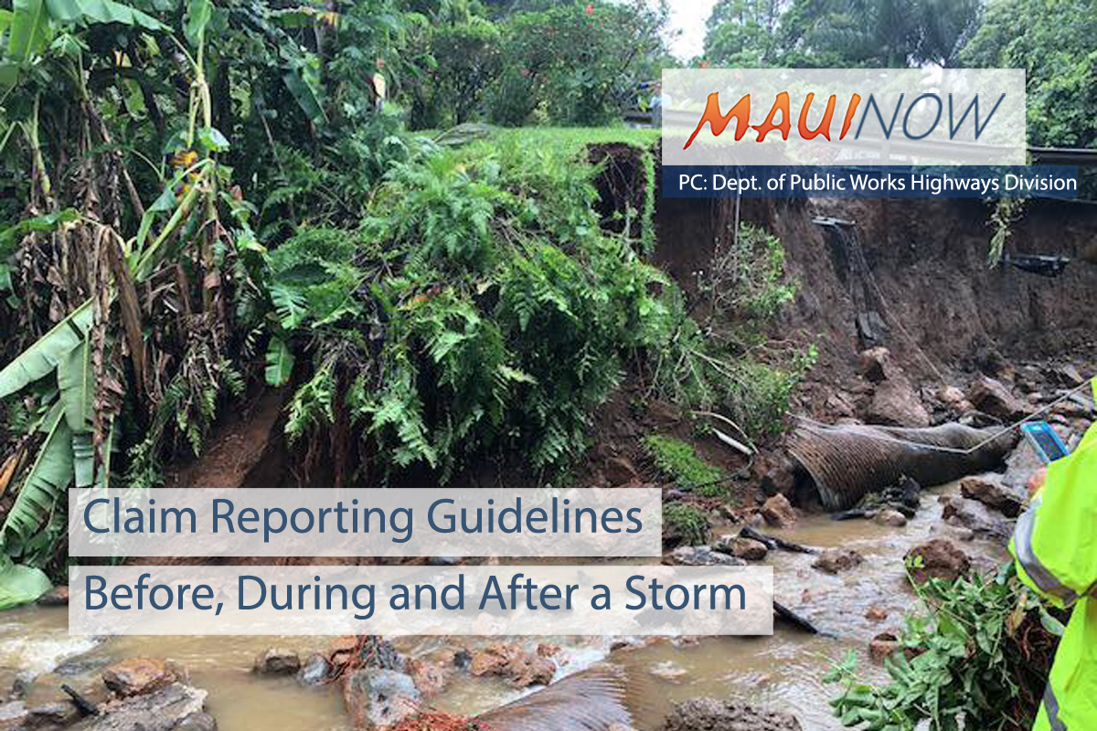 Claim Reporting Guidelines Before, During and After a Storm