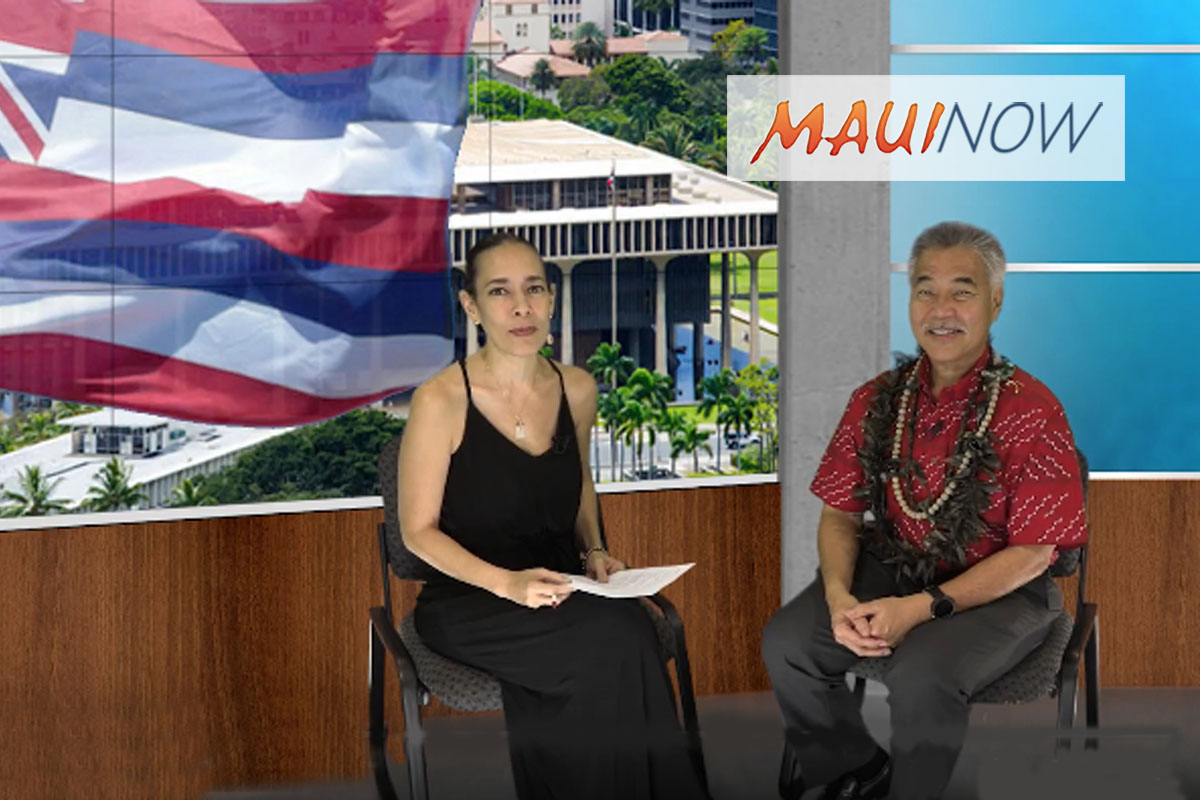 Gov. David Ige Shares Thoughts on Housing, Homelessness and Cost of Living