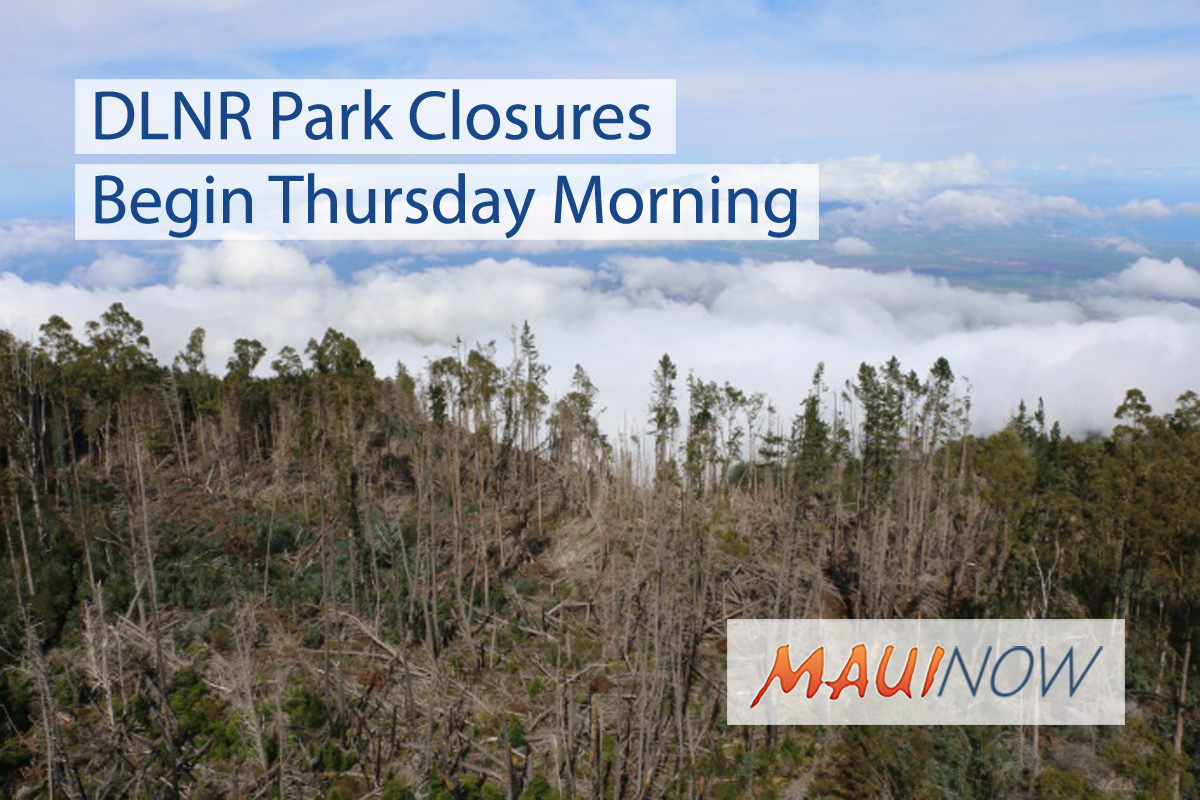 DLNR Announces Closures, Cancellations Ahead of Hurricane Lane