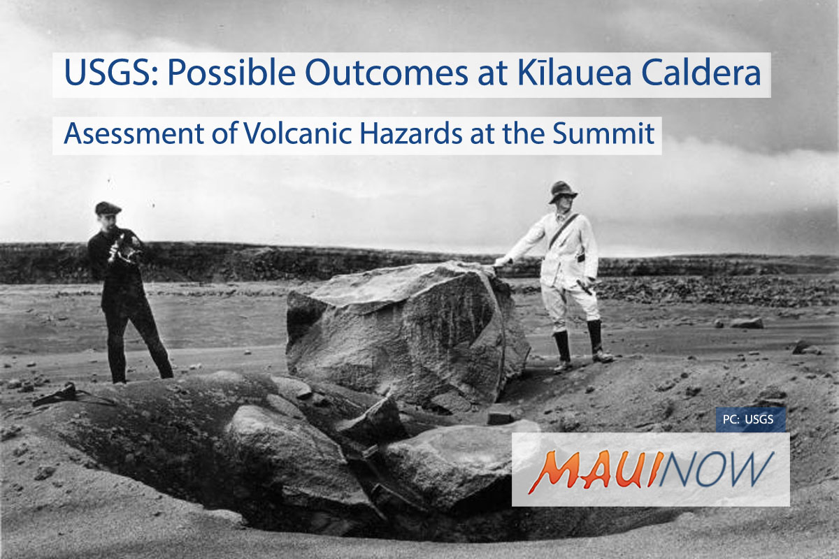 USGS: Possible Outcomes at Kīlauea Caldera