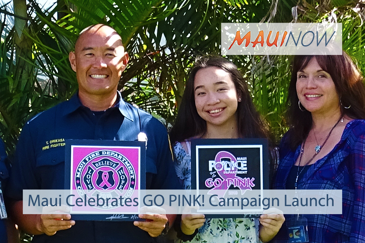 Maui Celebrates Launch of GO PINK! Campaign