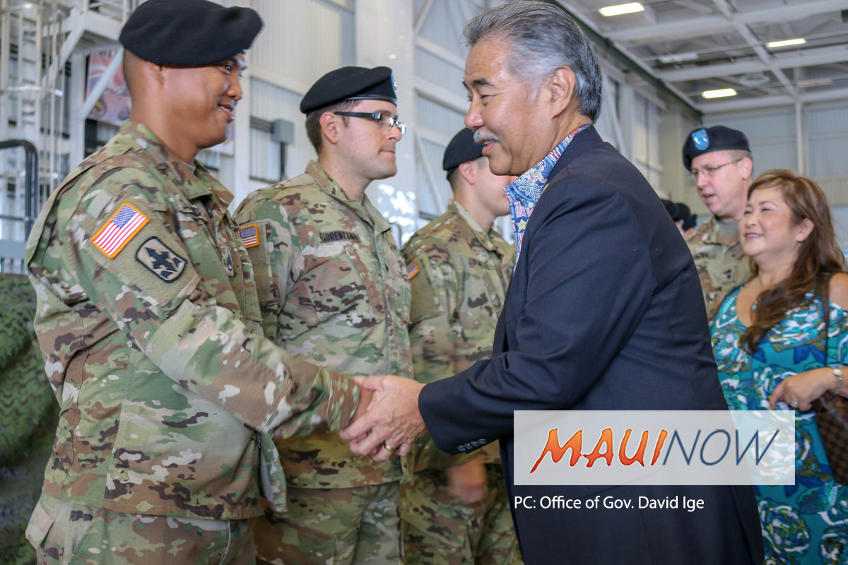 Governor Attends Hawaiʻi National Guard Deployment Ceremony