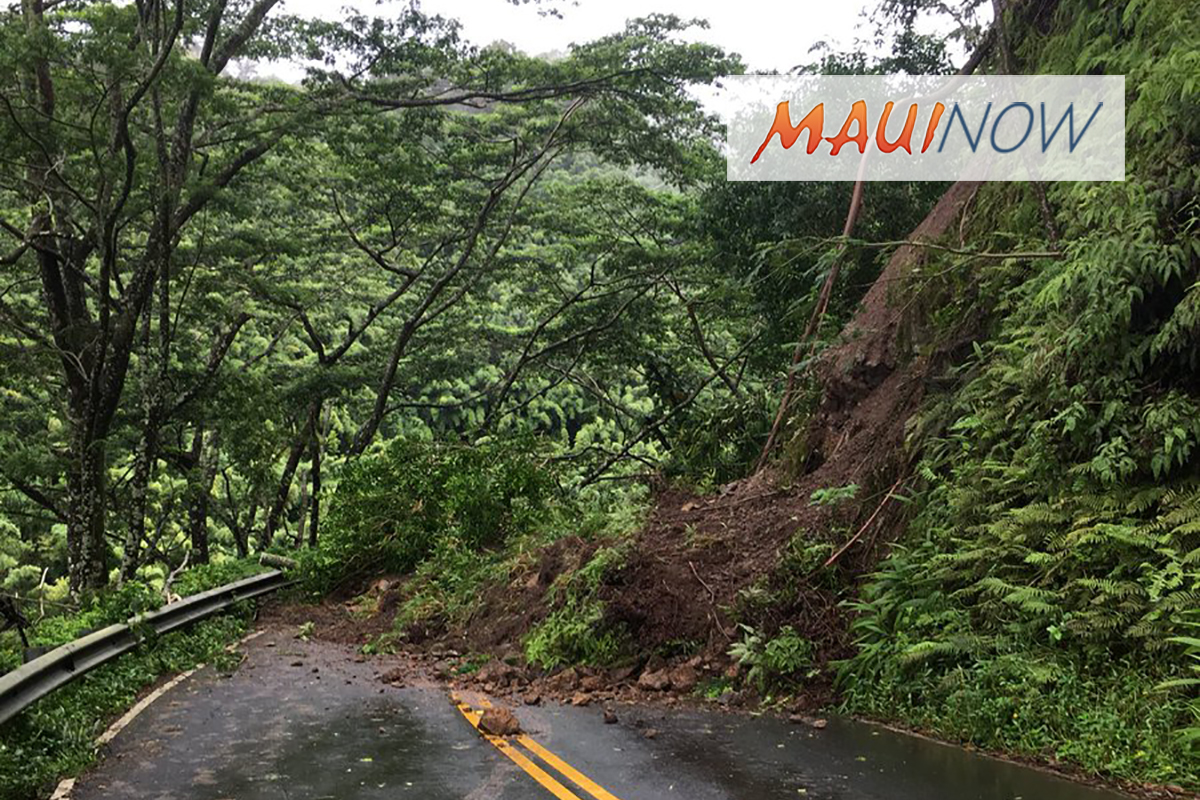 TRAFFIC ALERT: Multiple Landslides on Hāna Highway