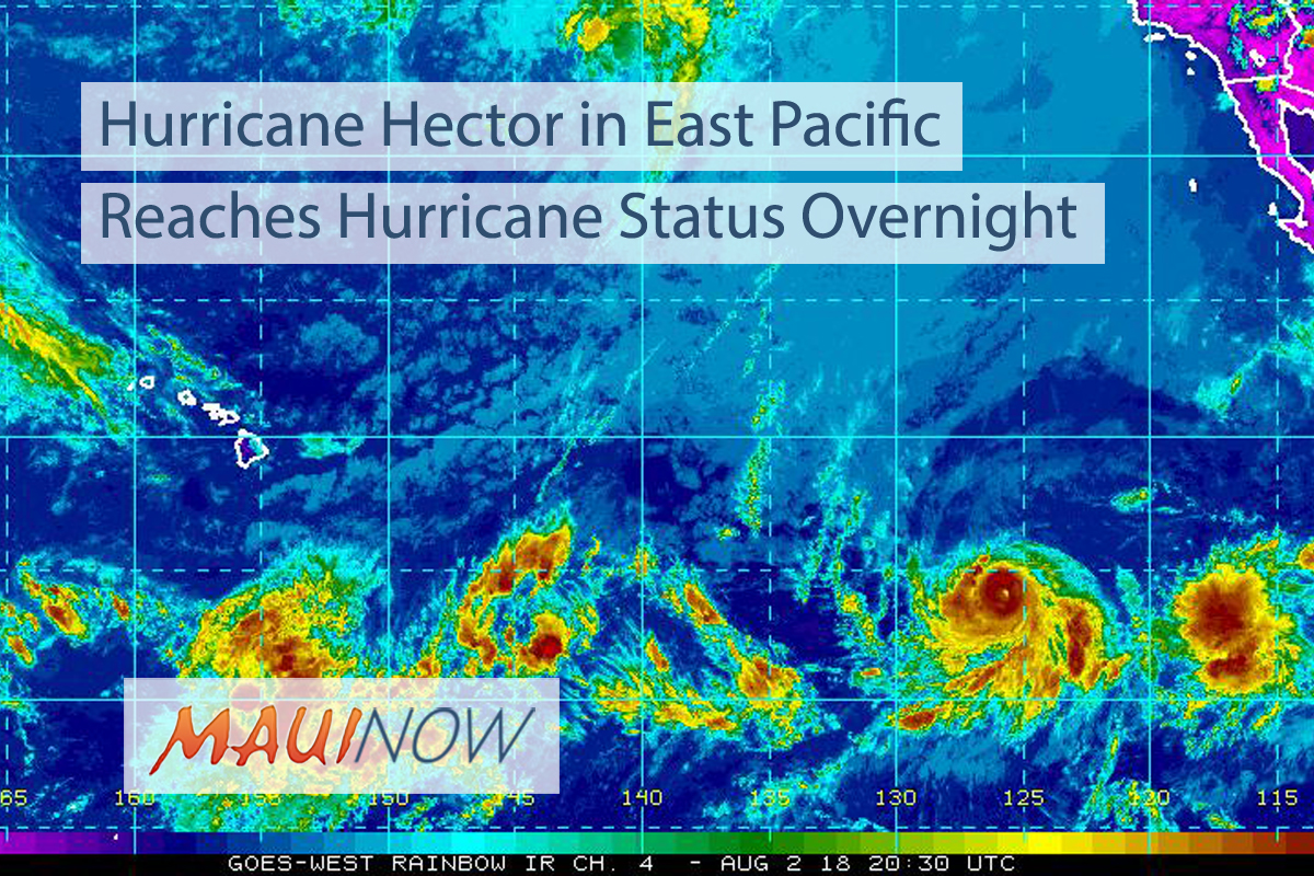 Hector Category 2 Hurricane, 2000 Miles ESE of Hawai'i