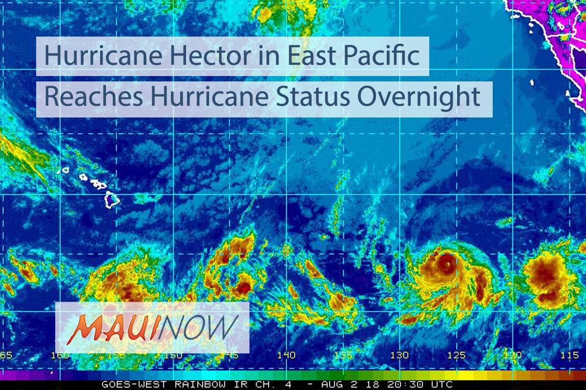 Hector Category 2 Hurricane, 2000 Miles ESE of Hawai'i