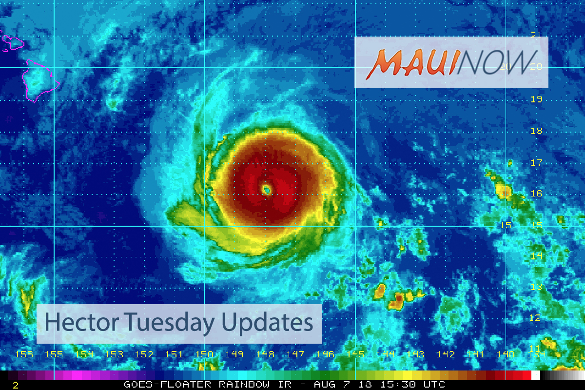 Fringes of Hurricane Hector to Brush Hawaii Island