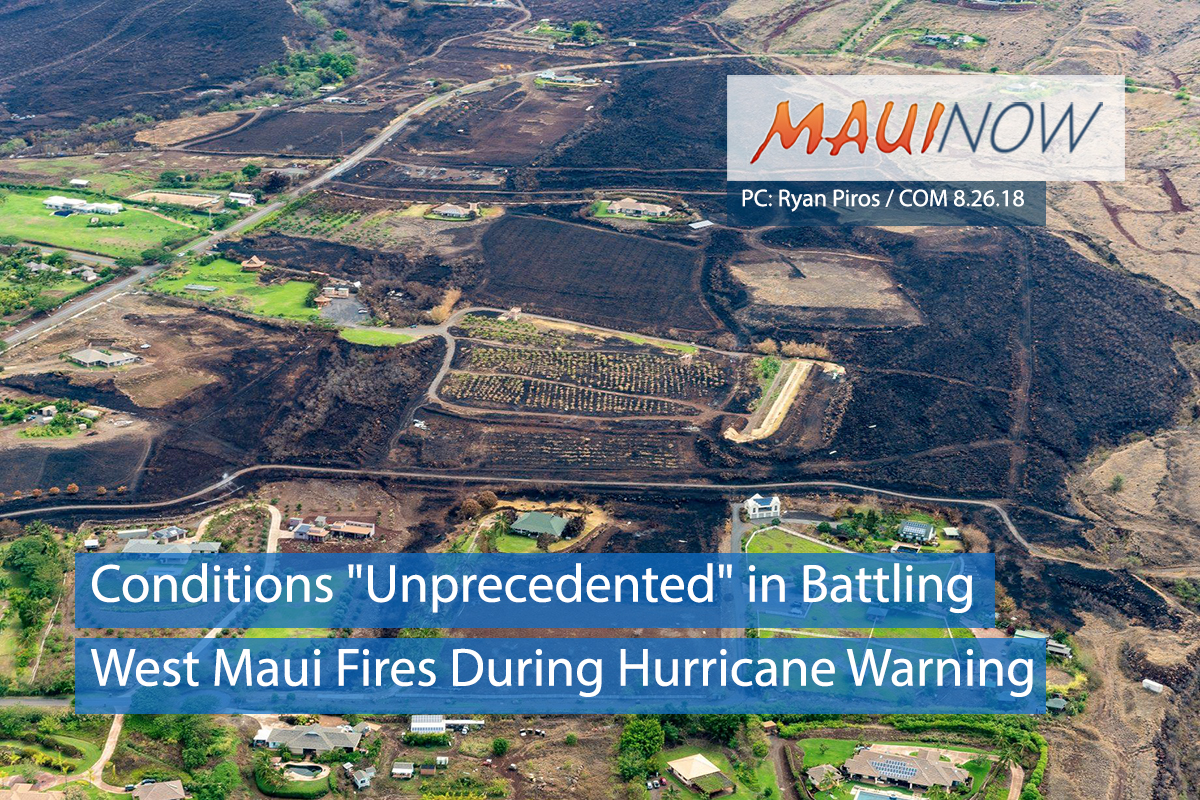 "Conditions ""Unprecedented"" in Battling West Maui Fires During Hurricane Warning"