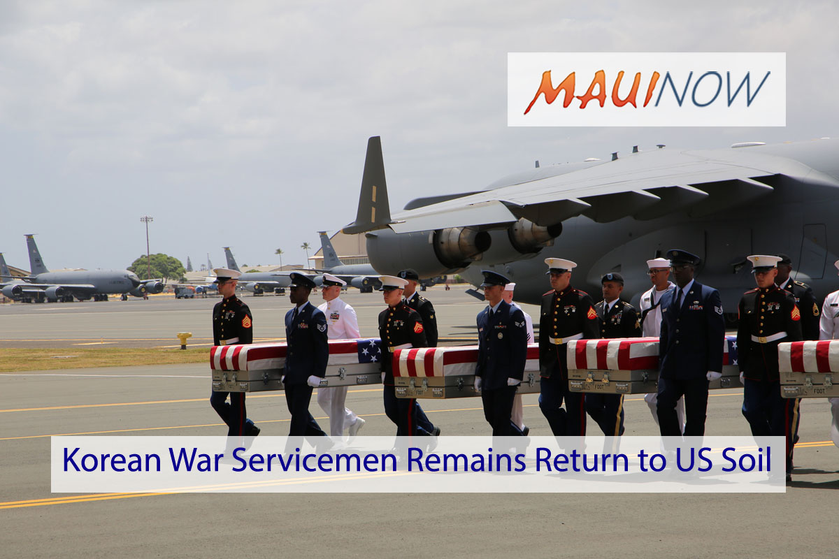 Ceremony Honors Return of Korean War Servicemen Remains