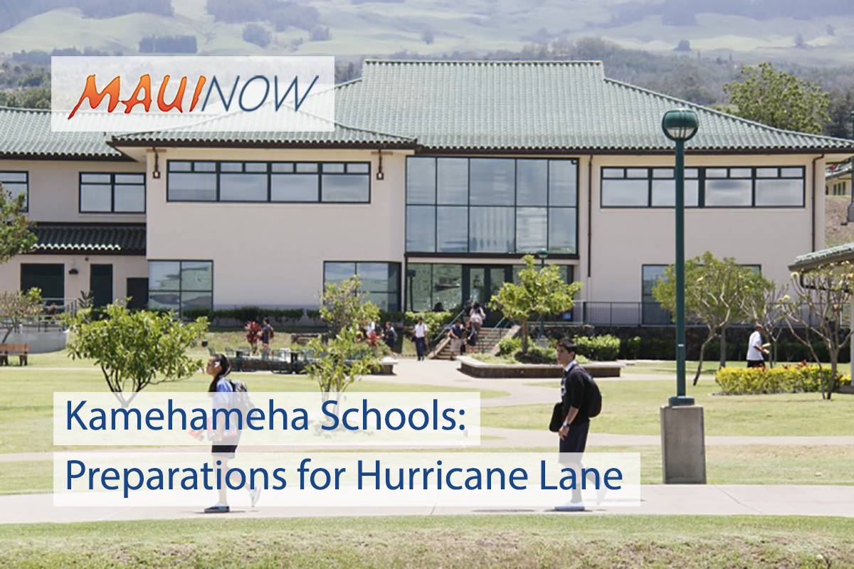 Kamehameha Schools Makes Preparations Ahead of Hurricane Lane