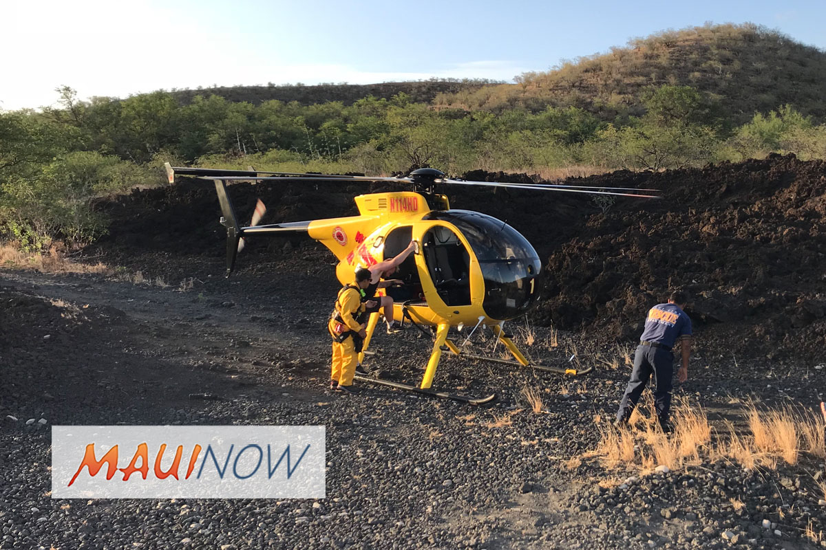 4 Hikers Airlifted from Hoapili Trail in Mākena