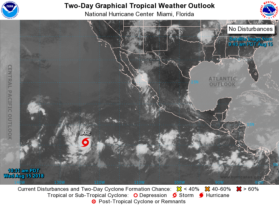 Subtropical Storm Ernesto forms in the central Atlantic