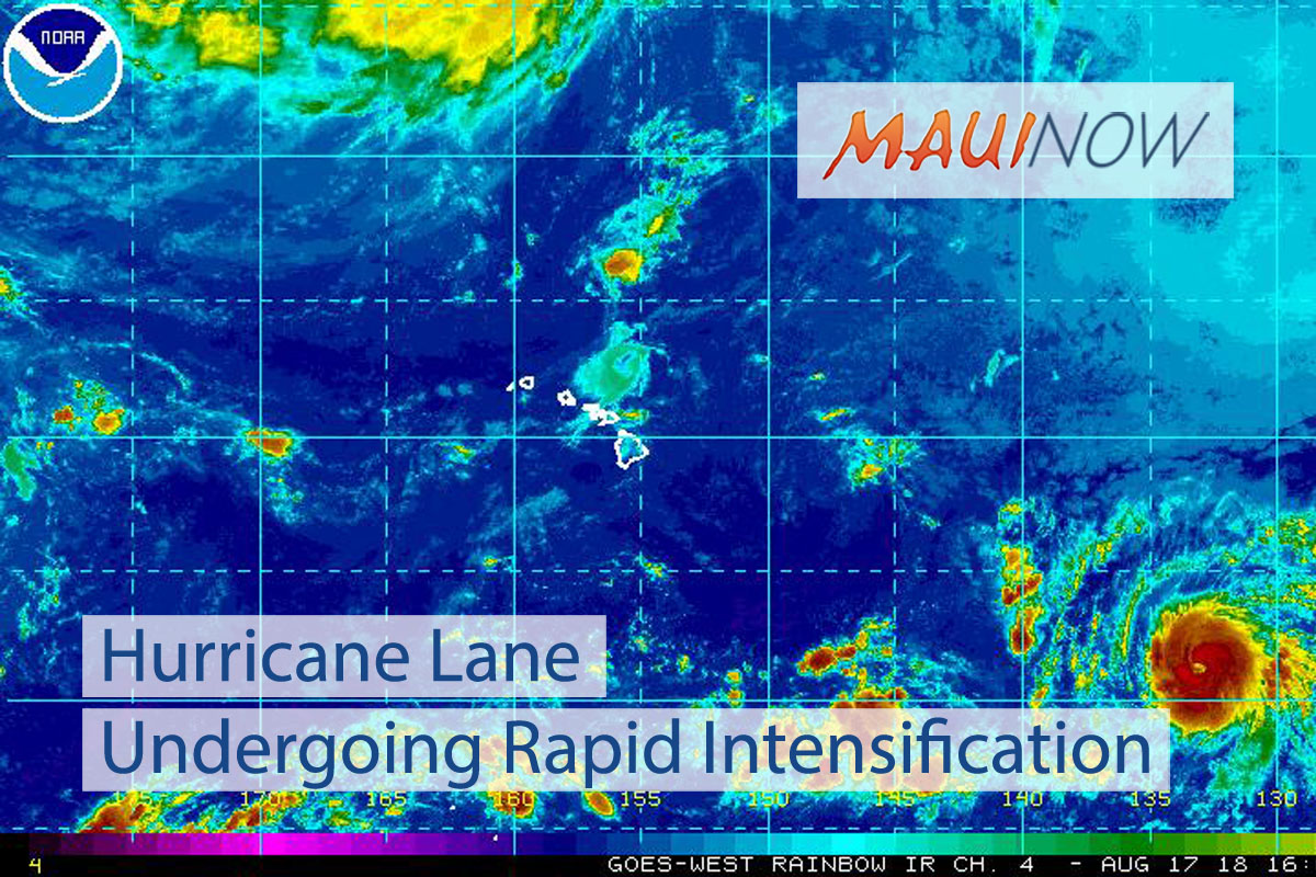 Hurricane Lane Undergoing Rapid Intensification
