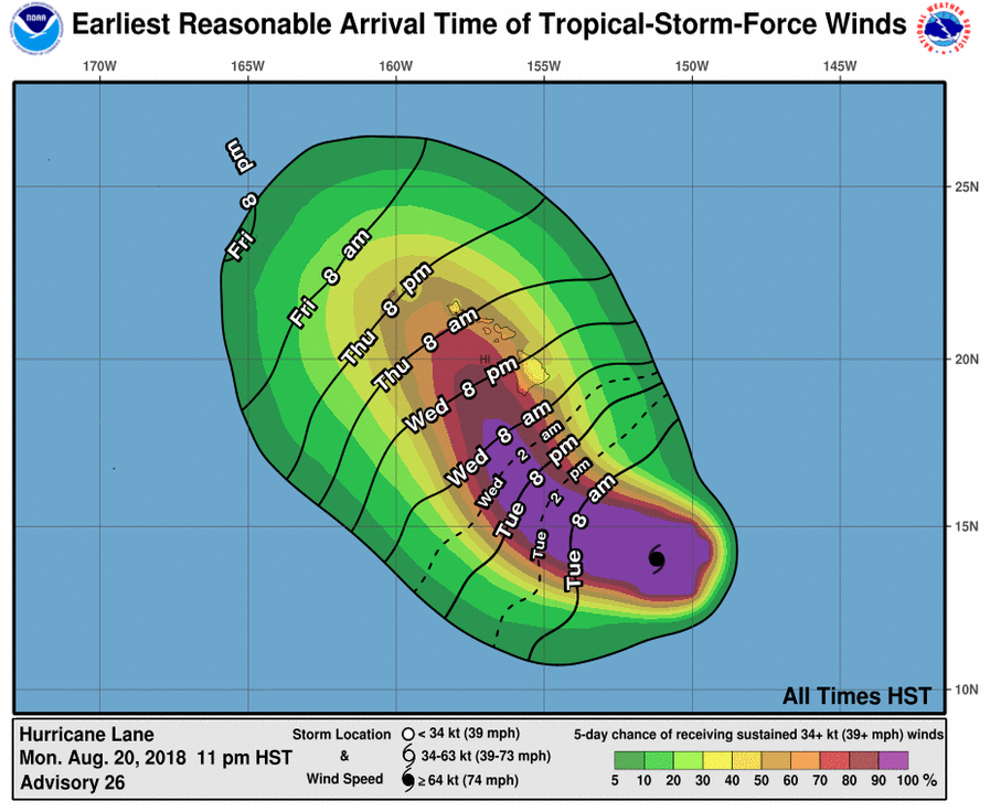 Hawaii may take hit from Hurricane Lane - NHC