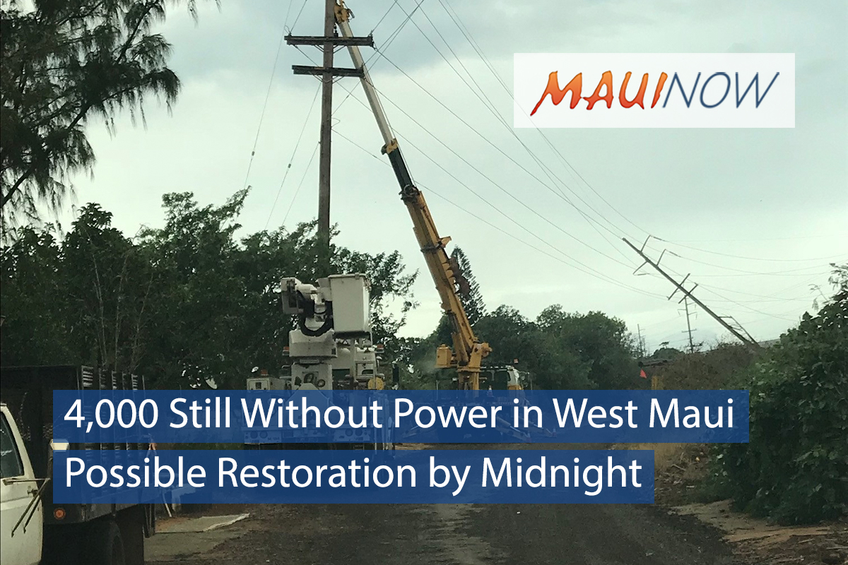 4,000 Still Without Power in West Maui