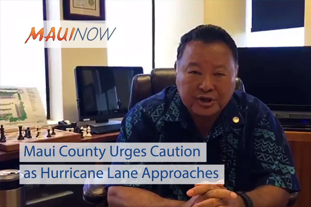 Maui County Urges Caution as Hurricane Lane Approaches