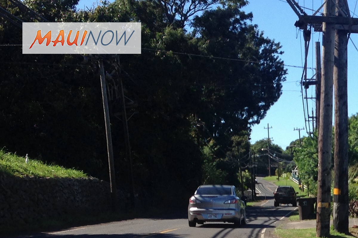 Roadwork to Close Portion of Makawao Ave