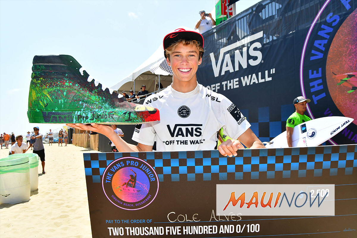 Maui Surfer Cole Alves Claims Vans Pro Junior Crown