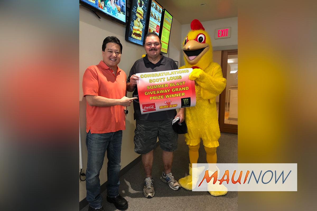Wailuku Resident Wins Minit Stop Summer Blast Giveaway