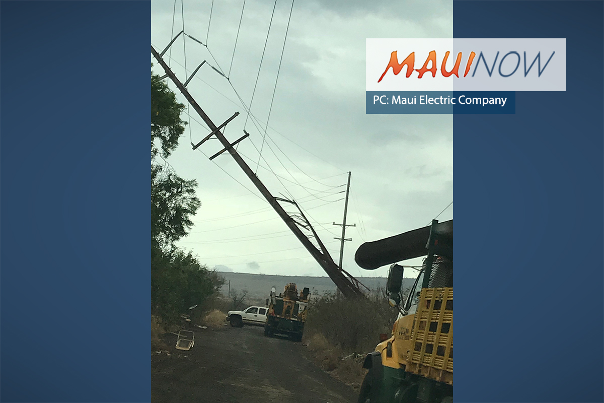 Pocket Outages Restored, 12 Maui Customers Without Electricity