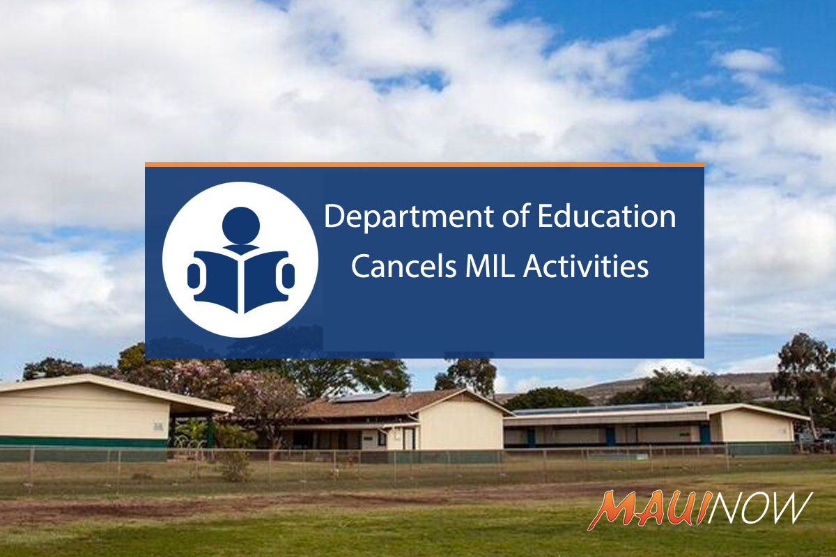 Department of Education Cancels MIL Activities