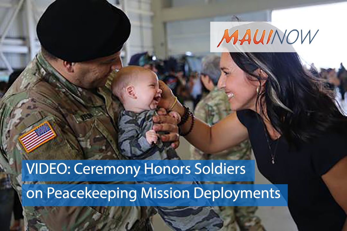 VIDEO: Ceremony Honors Soldiers on Peacekeeping Mission Deployments