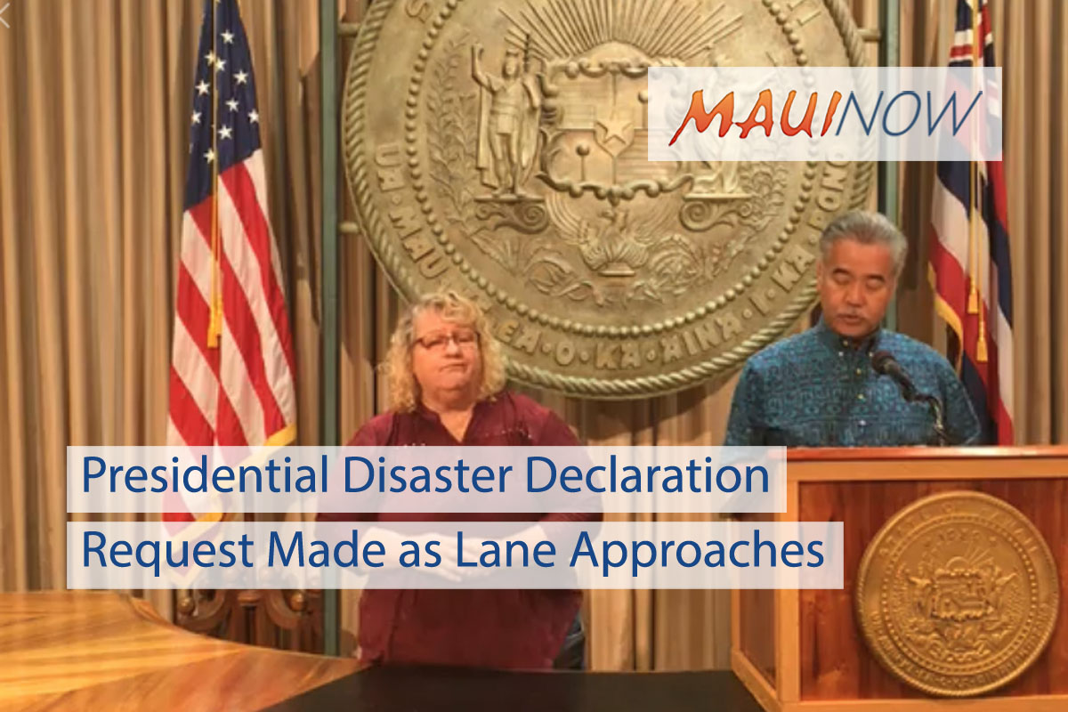 UPDATE: Presidential Disaster Declaration Request Approved Ahead of Lane