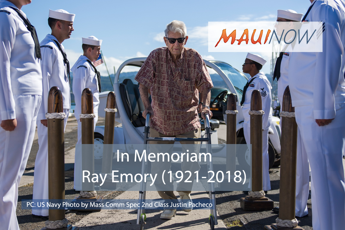 Pearl Harbor Survivor Ray Emory Dies, 97
