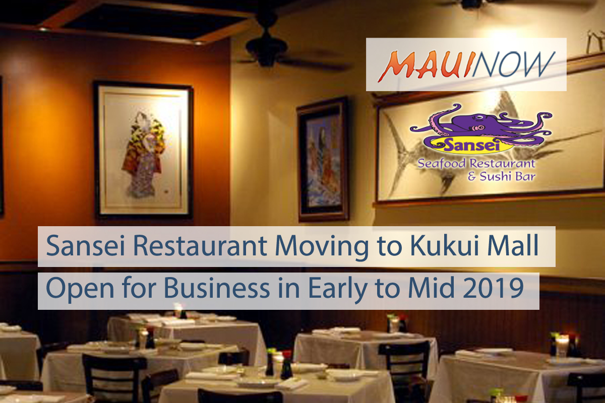 Sansei Restaurant Moving to Kukui Mall