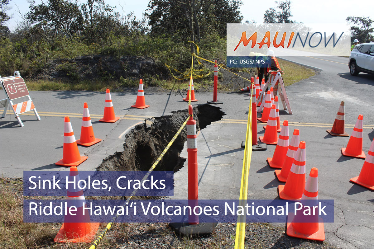 Sink Holes, Cracks Riddle Hawai'i Volcanoes National Park