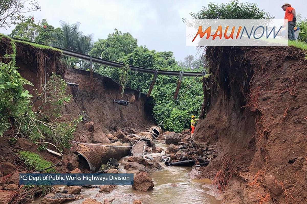 Large Maui Sinkhole: Storm Water Inundates Drainage
