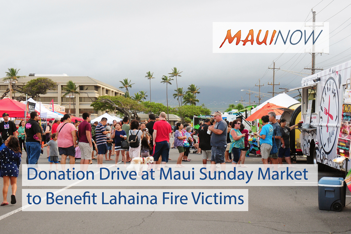 Donation Drive at Maui Sunday Market to Benefit Lahaina Fire Victims