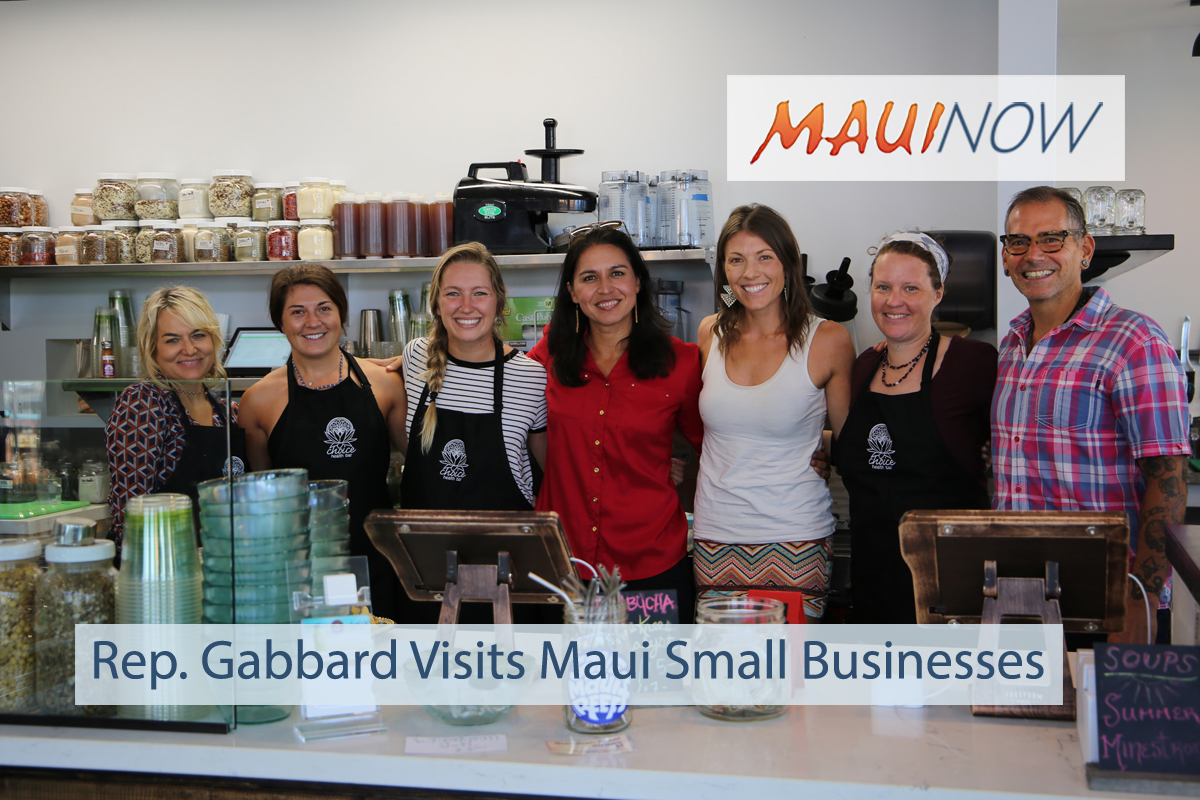 Rep. Gabbard Visits Maui Small Businesses and Workers