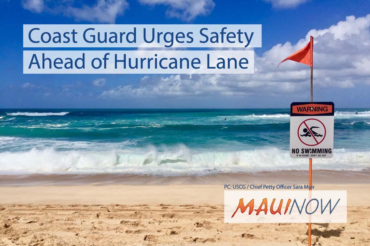 Coast Guard Urges Safety Measures Ahead of Hurricane Lane