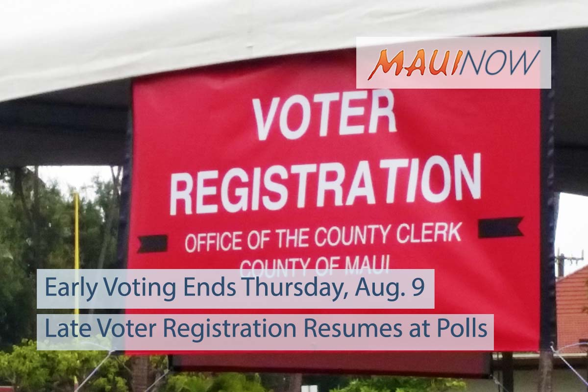 Early Voting Ends Thursday, Late Voter Registration Resumes at Polls