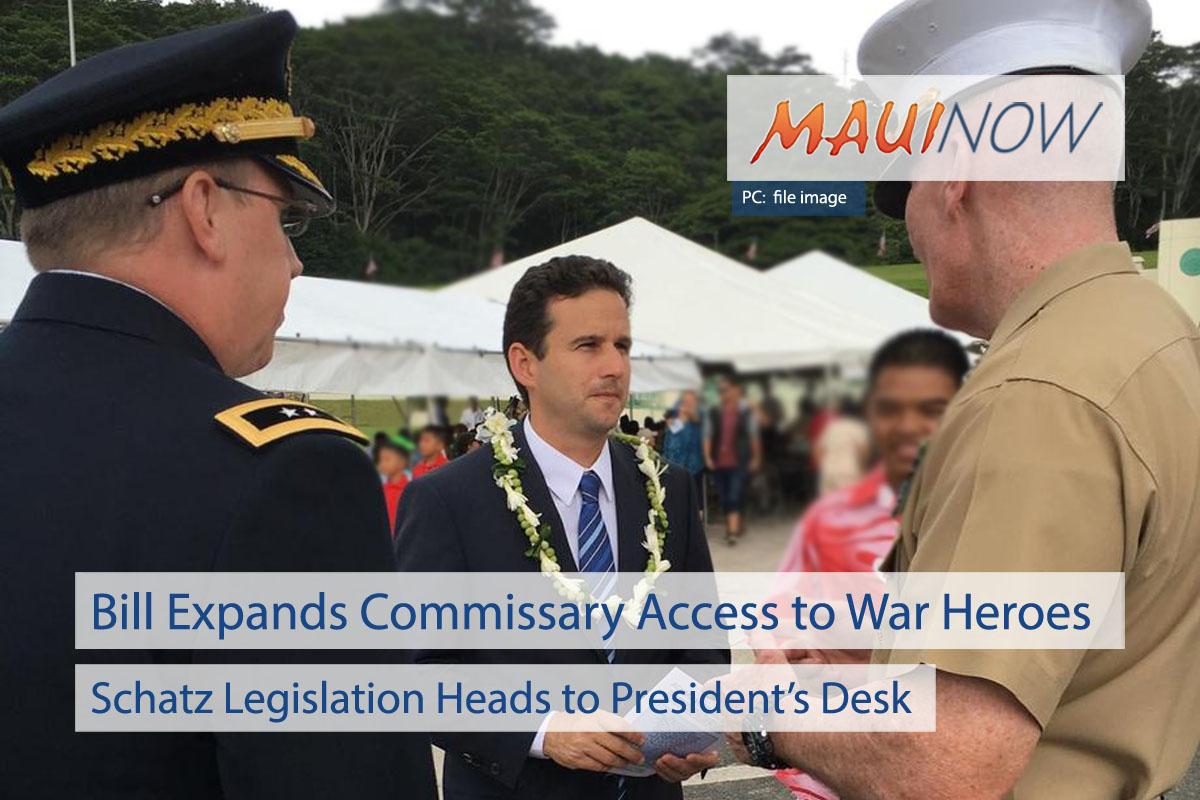Schatz Bill Aims to Open Commissaries to War Heroes