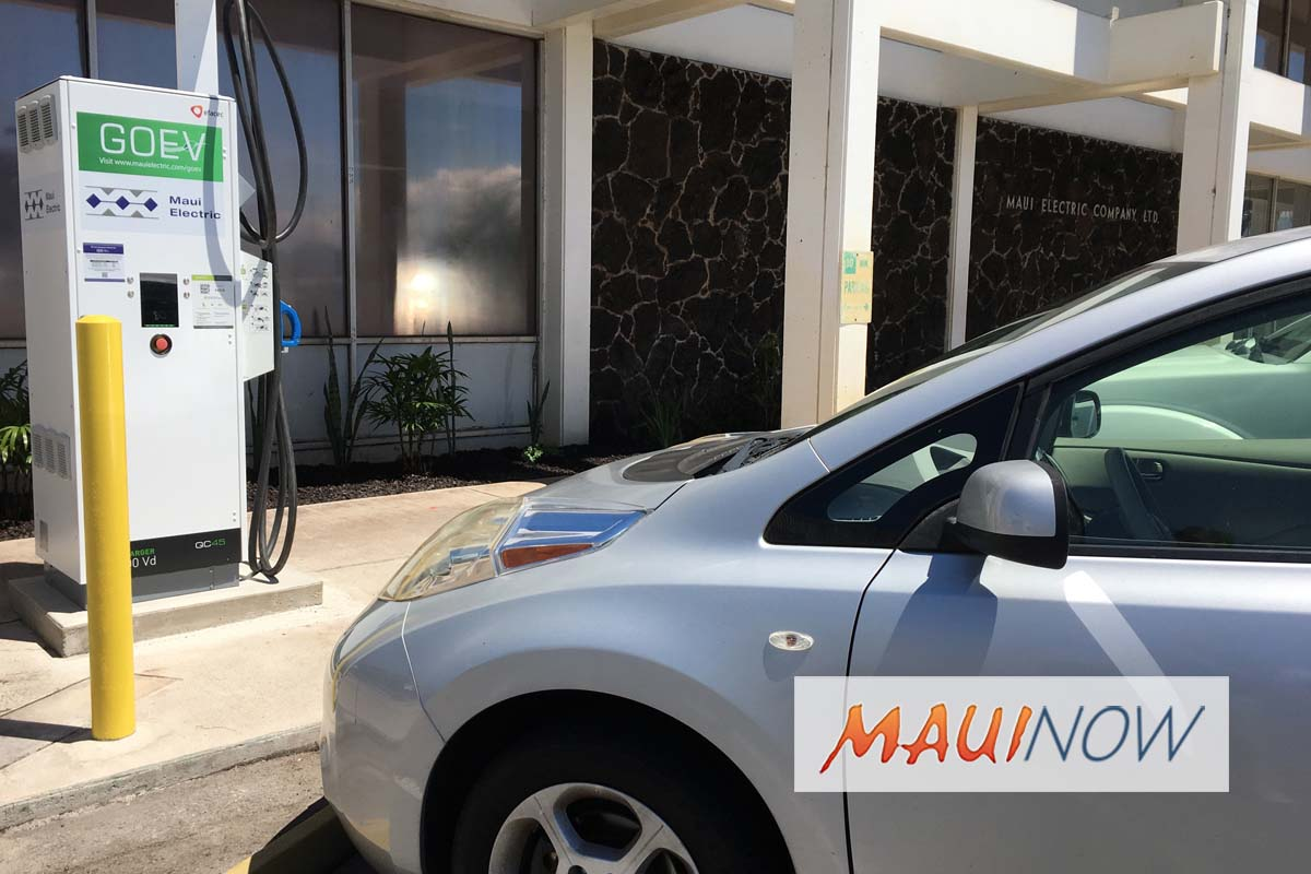Maui Electric to Lower Electric Vehicle Charging Rates
