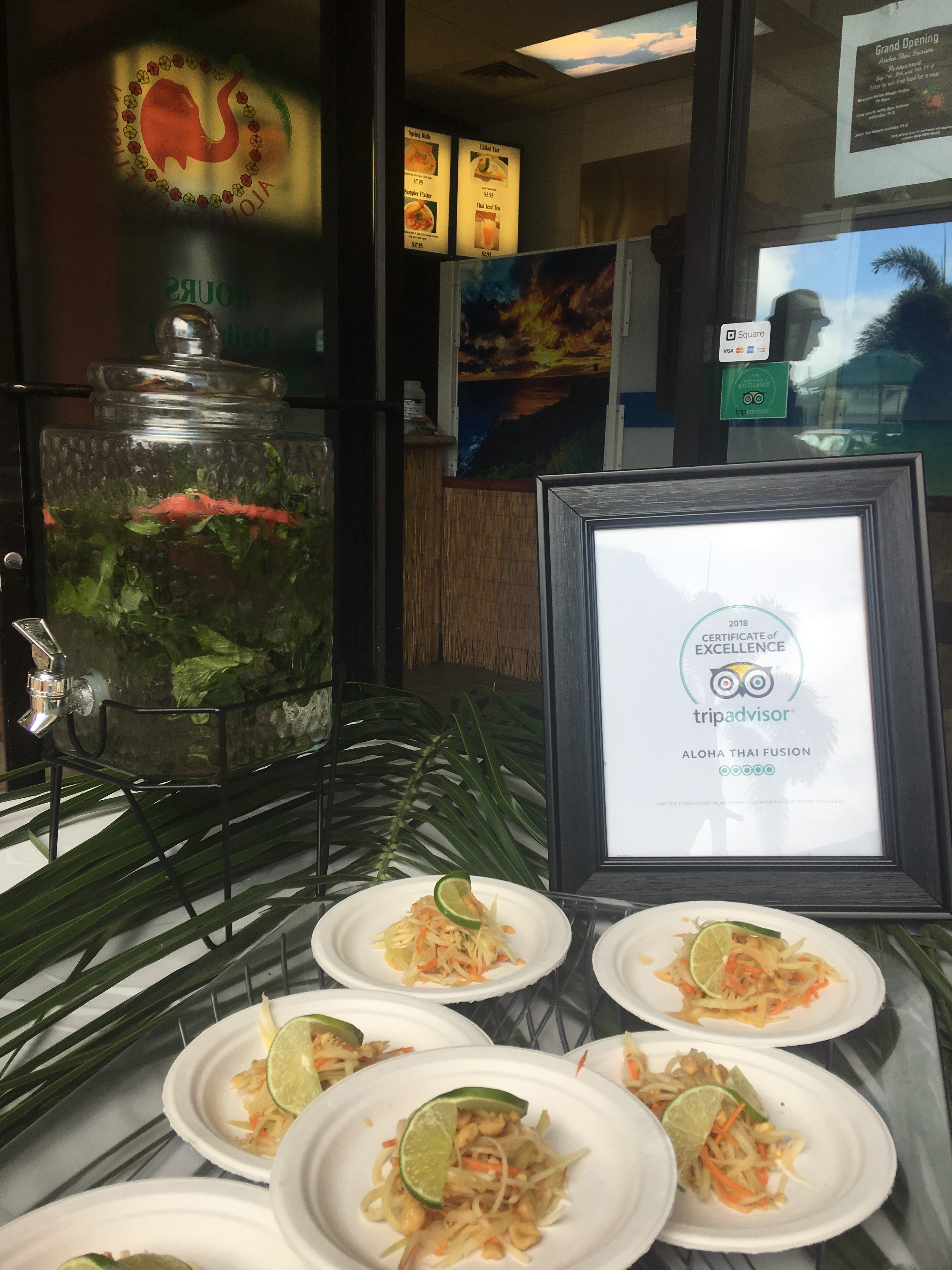 Aloha Thai Fusion Celebrates for Three Days