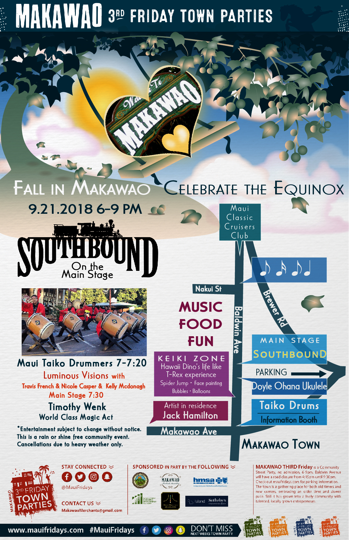 Makawao Third Friday Town Party Celebrates Fall