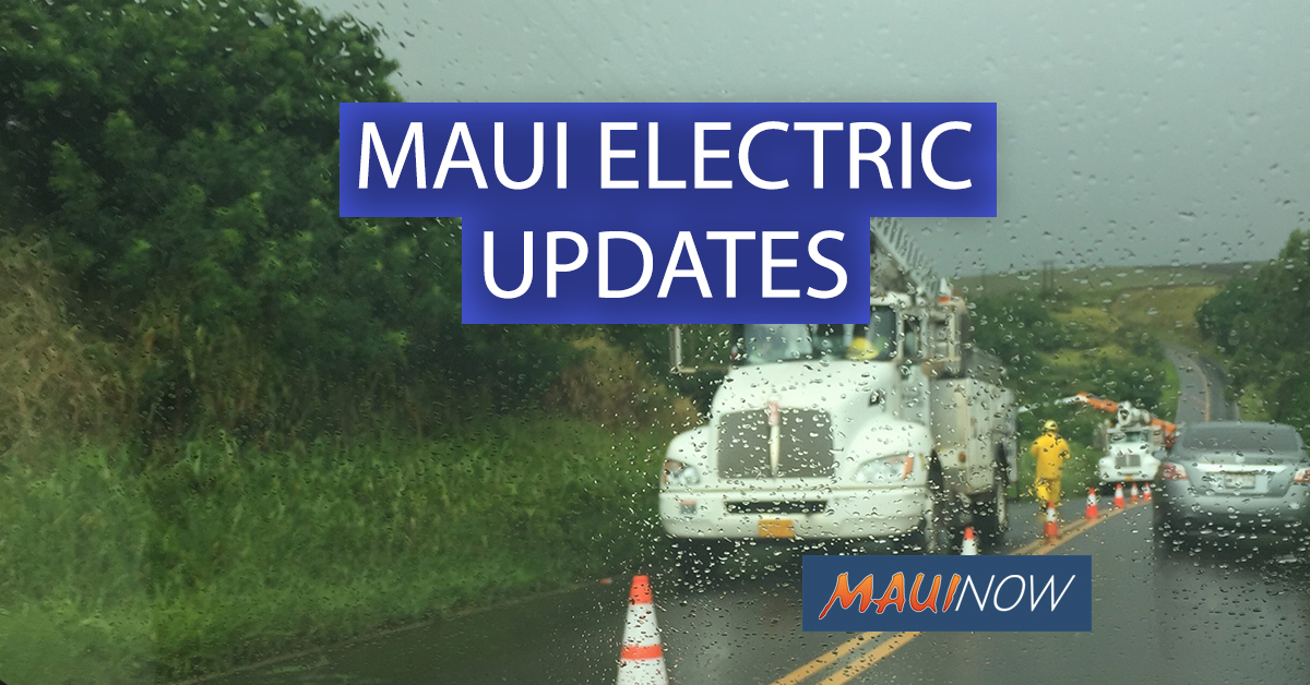 Maui Olivia Power Outage Updates