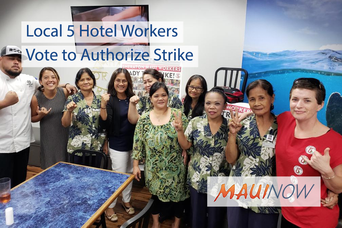 Local 5 Hotel Workers Vote to Authorize Strike