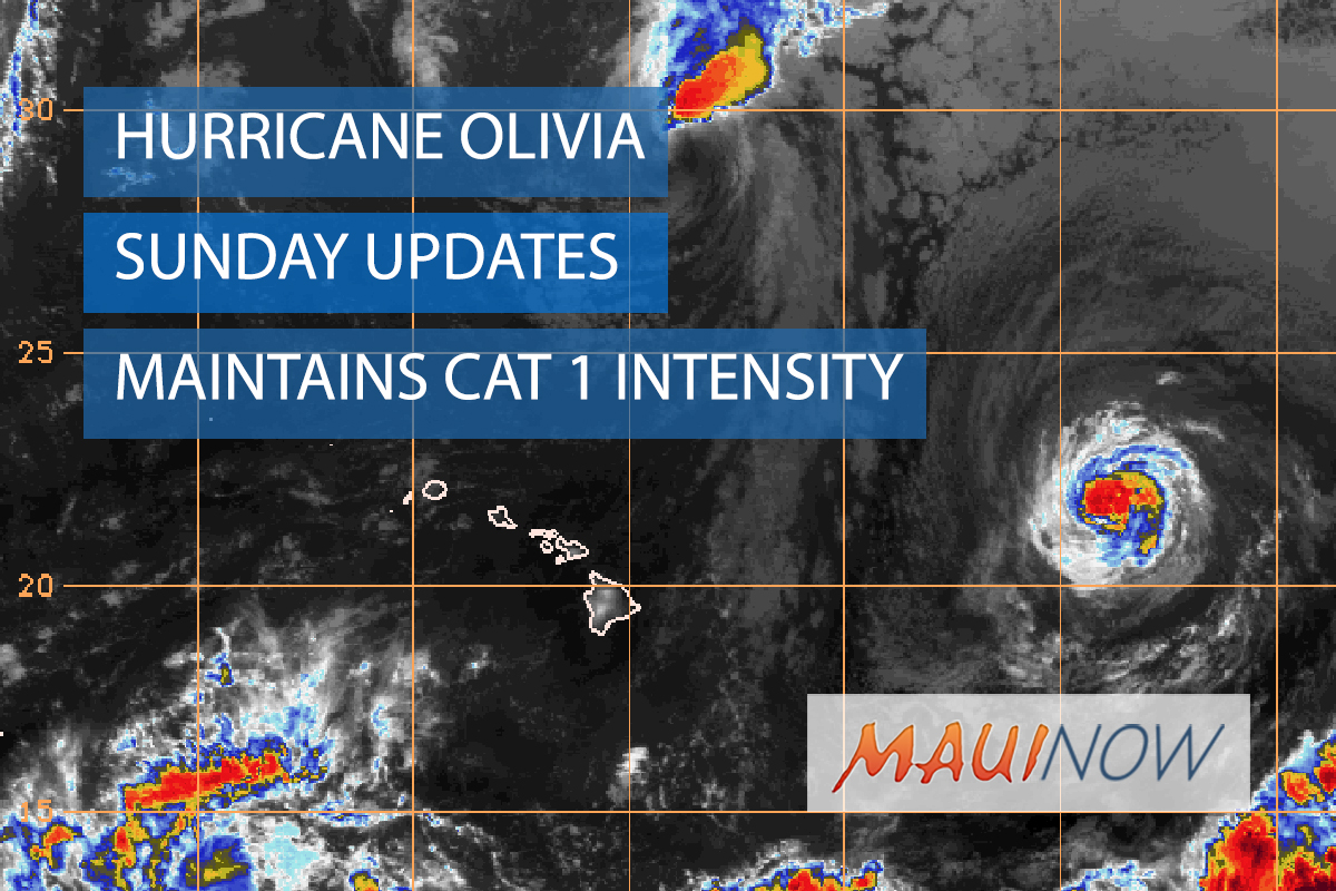 Olivia Maintains Intensity as Category 1 Hurricane