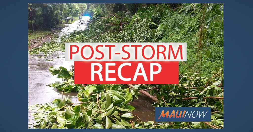 Maui Now Post Storm Recap Maui County Resumes Services