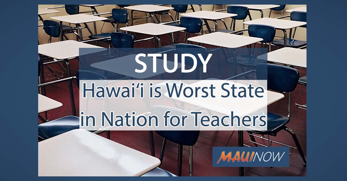 Study: Hawai'i is Worst State in Nation for Teachers