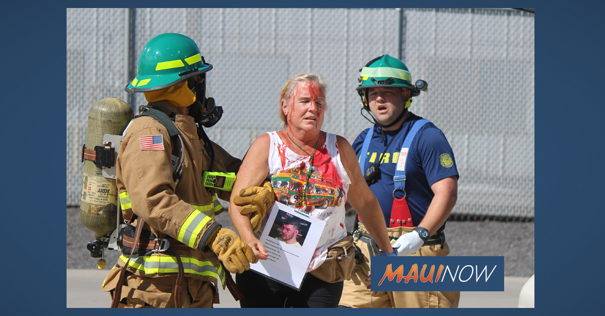 Triennial Exercise Simulates Airliner Crash at Kahului Airport