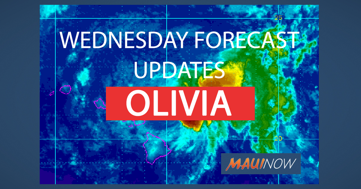 OLIVIA WEDNESDAY 9.12.18 FORECAST UPDATES