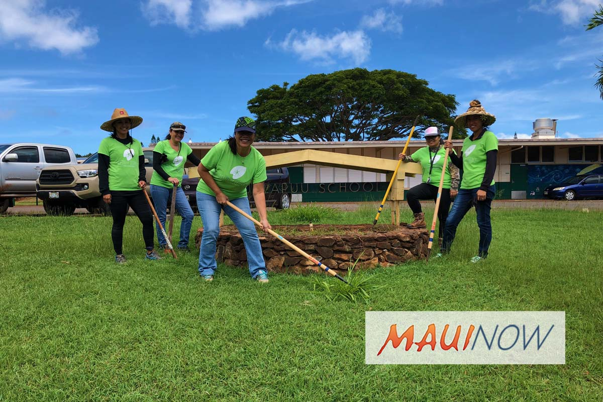 Kualapu'u Charter and Maui High School Benefit from ASB Seeds of Service Day