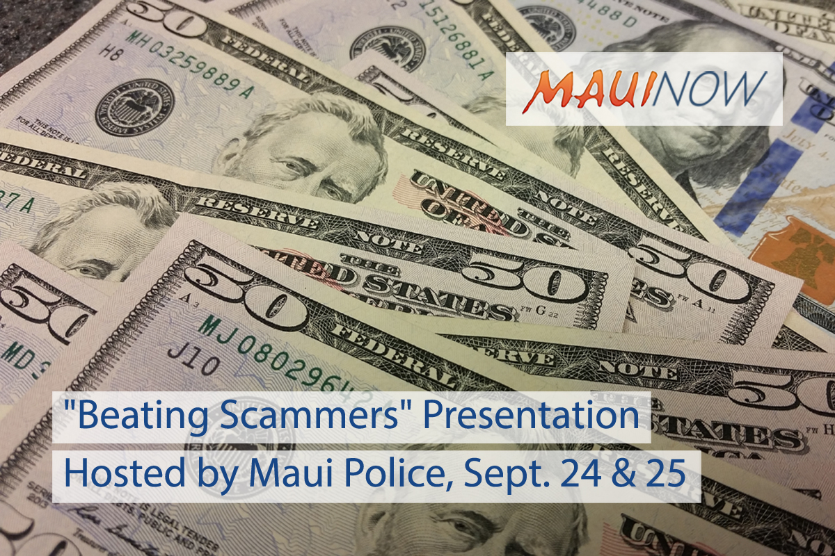 "Maui Police to Host ""Beating Scammers"" Presentation"