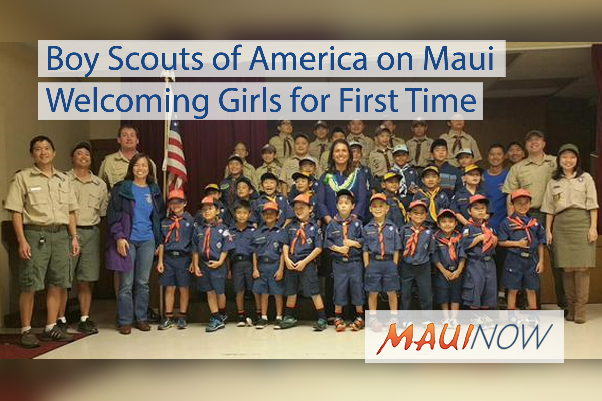 Boy Scouts of America on Maui Welcoming Girls